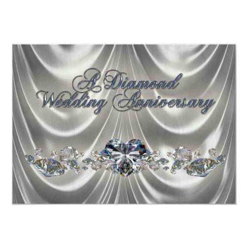 Diamond Wedding Invitation Label: Diamond Wedding Anniversary Invitation Card