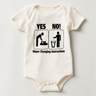 Diaper Changing Instructions shirt