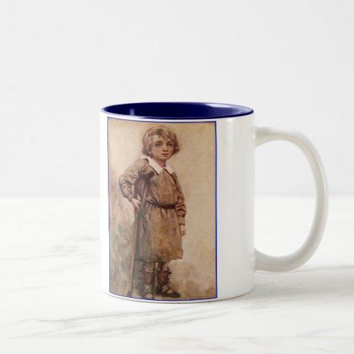 Dickens A Christmas Carol Tiny Tim Two-Tone Coffee Mug