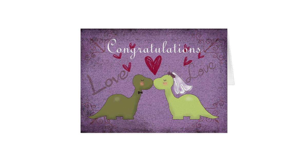 Dinosaur Wedding Invitations: Dinosaur Wedding Card