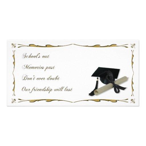Diploma and graduation cap mortar board photo card for Graduation mortar board template