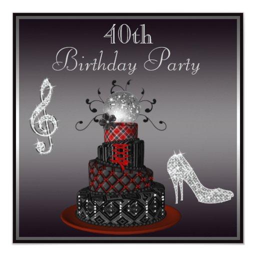 40th Birthday Invitations 8500 40th Birthday