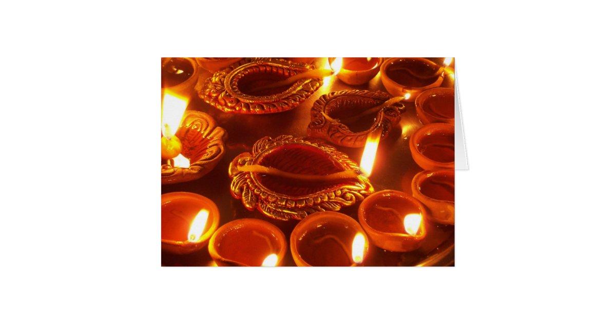 diwali diya candles card | Zazzle