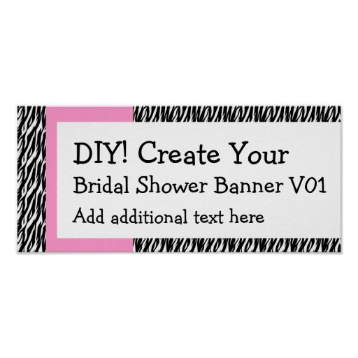 Design Your Own Banner: DIY Create Your Own Baby Shower Banner EXTRA SMALL Poster