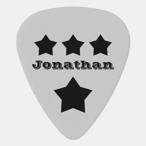 diy design your own custom name stars v17 guitar pick zazzle. Black Bedroom Furniture Sets. Home Design Ideas