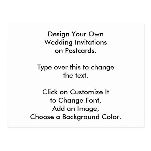 Design My Own Wedding Invitation: DIY Design Your Own Wedding Invites On Postcards