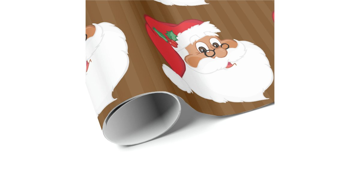 Do You Believe In Black Santa Claus Wrapping Paper Zazzle
