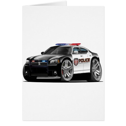 Dodge Charger Police Car Greeting Card