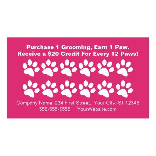 Dog Grooming Customer Rewards Card Loyalty Business Template
