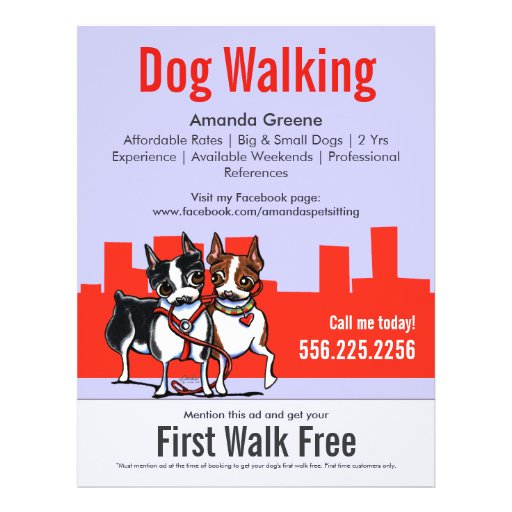 dog walking flyer template free - dog walking posters