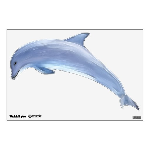 Dolphin Left Facing Wall Sticker Zazzle