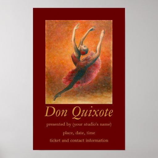 Don Quixote Quotes: Don Quixote Ballet Art Poster