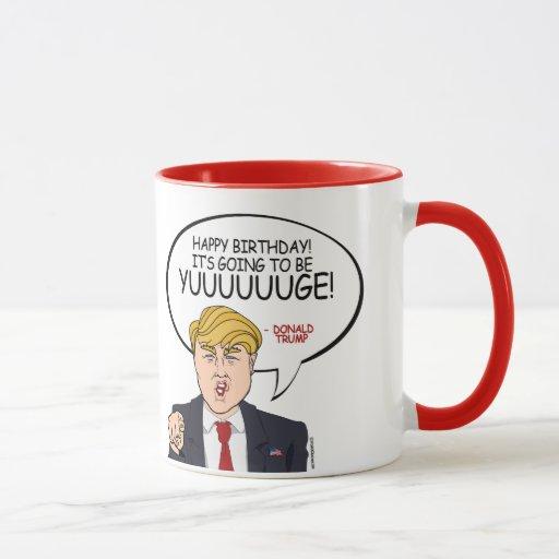 Donald Trump Greeting Happy Birthday Png Mug Zazzle