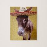 Donkey (Equus hemonius) Wearing Straw Hat Poster | Zazzle
