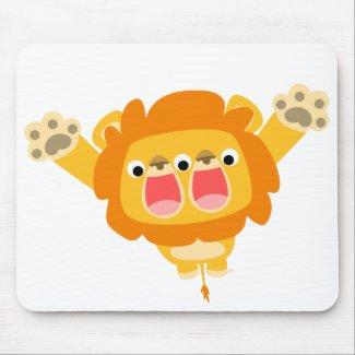 Double Trouble cute cartoon lion T-shirt mousepad