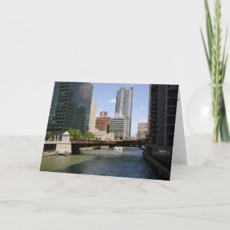 Downtown Chicago Canal card