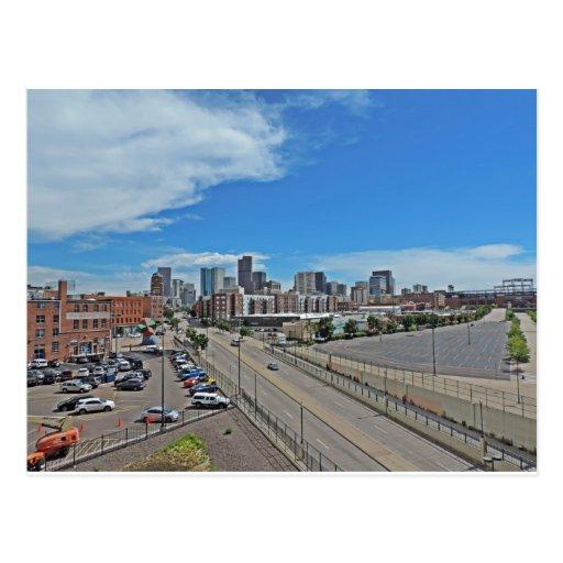 Denver News A Line: Downtown Denver Colorado City Skyline Postcard