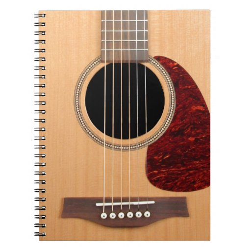 dreadnought acoustic six string guitar notebook zazzle. Black Bedroom Furniture Sets. Home Design Ideas