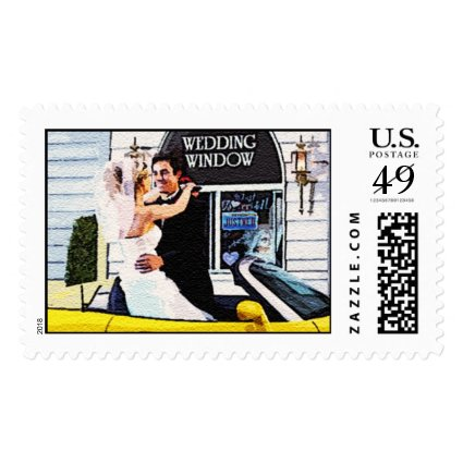 Elopement ideas!: Drive Up Wedding Stamp