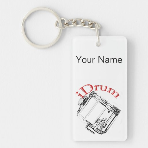 drum drummer marching key chain keychain zazzle. Black Bedroom Furniture Sets. Home Design Ideas