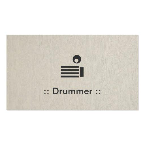 Drummer Simple Elegant Professional Business Card Template
