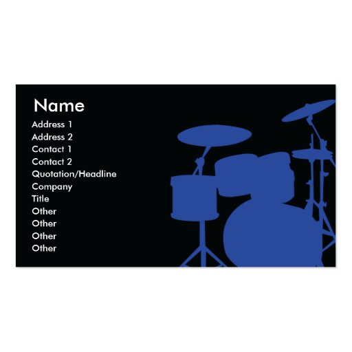 Drums Business Card Template
