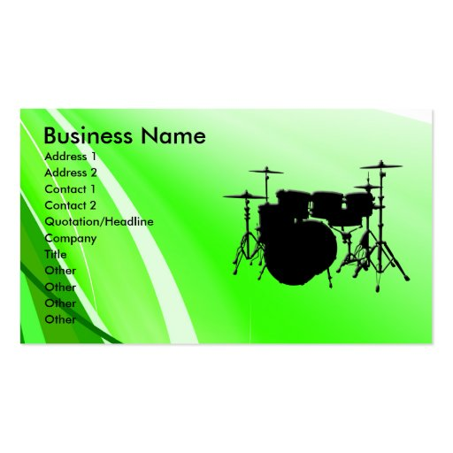 Drums Business Card Templates