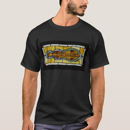 Dulcimer Stained Glass T-Shirt