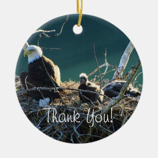 Eagles' Nest; Thank You Christmas Tree Ornaments   Zazzle