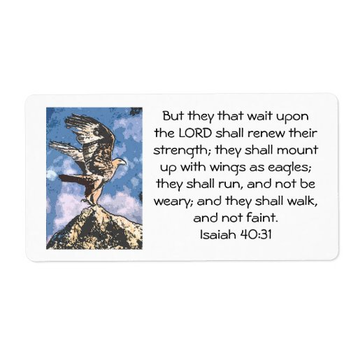 Eagles Wings Isaiah 40 31 Label Zazzle