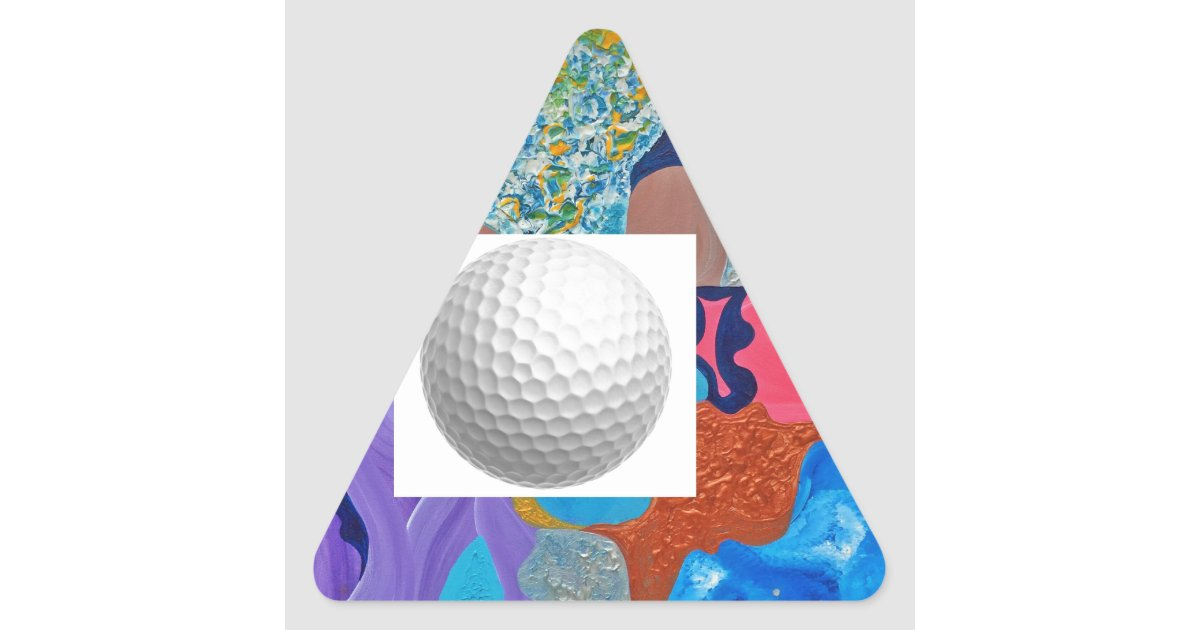 ear golf ball triangle sticker zazzle. Black Bedroom Furniture Sets. Home Design Ideas