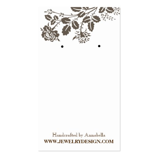 Earring Holder Business Card Templates