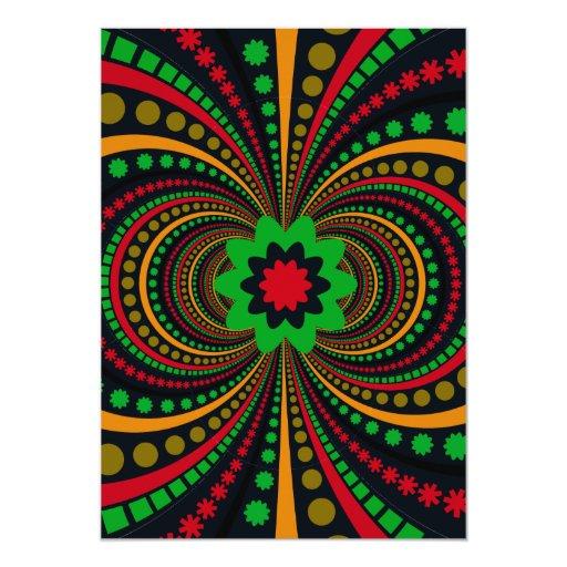 Earth Tones Funky Pattern Flowers Stripes 5x7 Paper ...