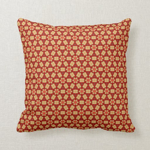 Earthy Batik Hexagon Geometric Pattern Cushion Throw