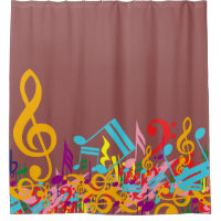 Music Themed Designer Shower Curtains Gifts For Musicians And Music Lovers