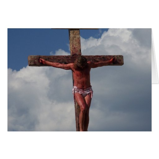 Easter Jesus Old Rugged Cross Crucifix Note Card