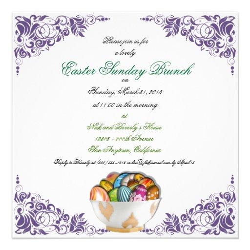 Easter Sunday Brunch Custom Invitations