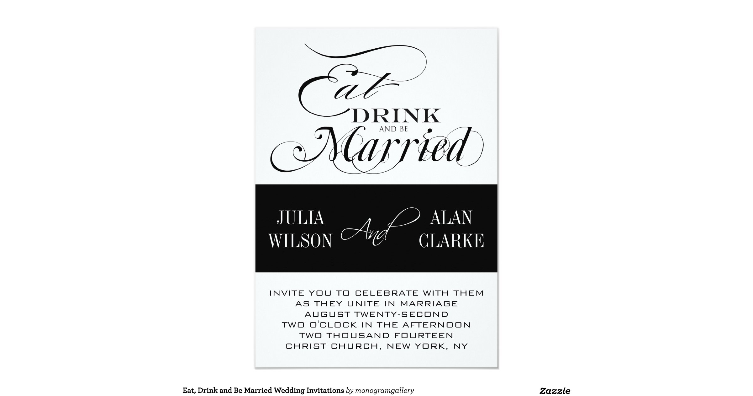 Wedding Invitations Eat Drink And Be Married: Eat_drink_and_be_married_wedding_invitations