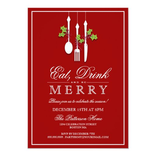 eat drink  be merry christmas holiday party custom
