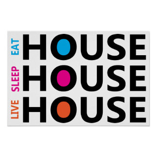 house music posters zazzle. Black Bedroom Furniture Sets. Home Design Ideas