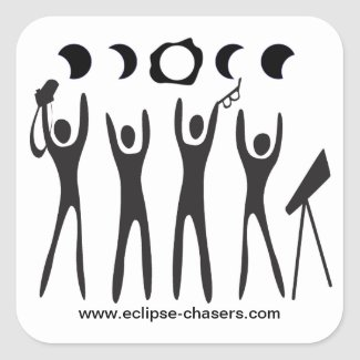 Eclipse Chasers logo stickers
