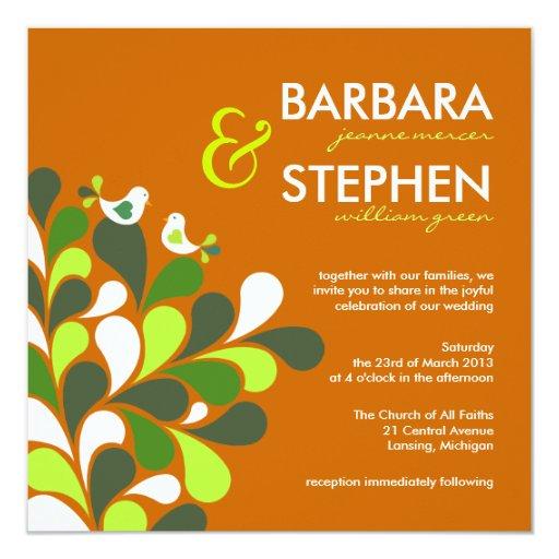 Wedding Invitations Eco Friendly: Eco-Friendly Autumn Orange Wedding Invitations