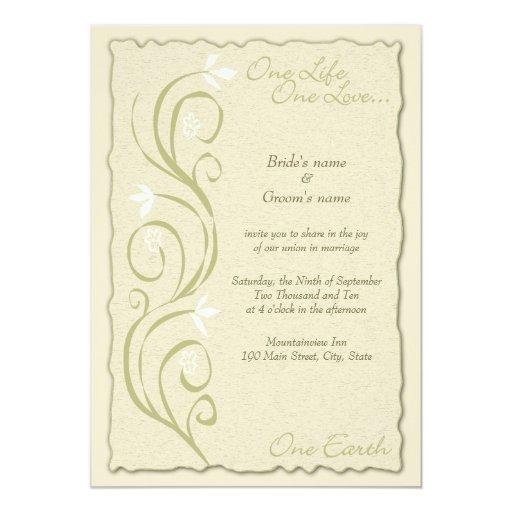 Wedding Invitations Eco Friendly: Eco-Friendly Wedding Invitation