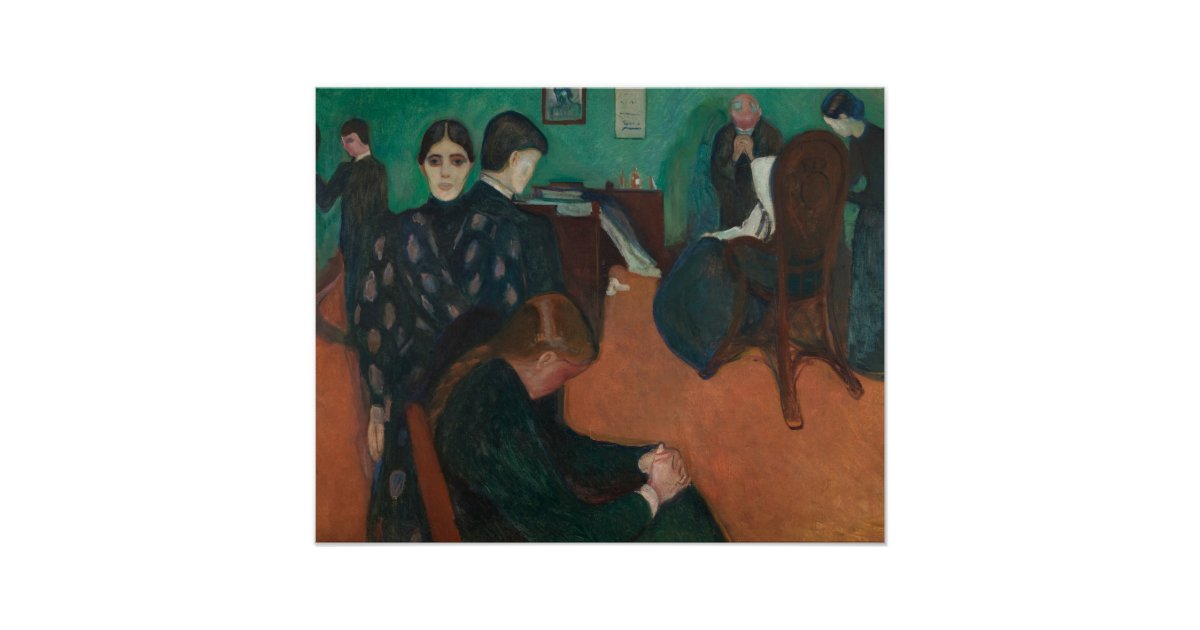 Edvard Munch - Death in the Sickroom Poster | Zazzle