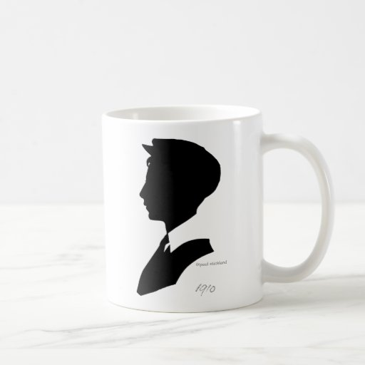 Edwardian Black and White Vintage Silhouette Coffee Mug ...