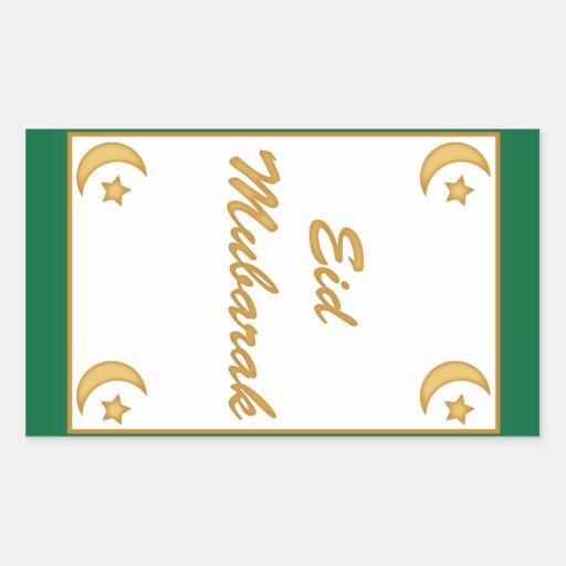 Eid Mubarak Stickers: Eid Mubarak Eid Al Fitr Rectangular Sticker
