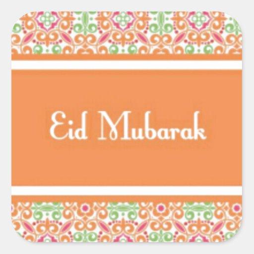 Eid Mubarak Stickers: Eid Mubarak.jpg Square Sticker