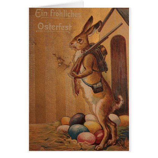 German vintage easter postcard