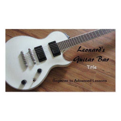 electric guitar lessons business card zazzle. Black Bedroom Furniture Sets. Home Design Ideas