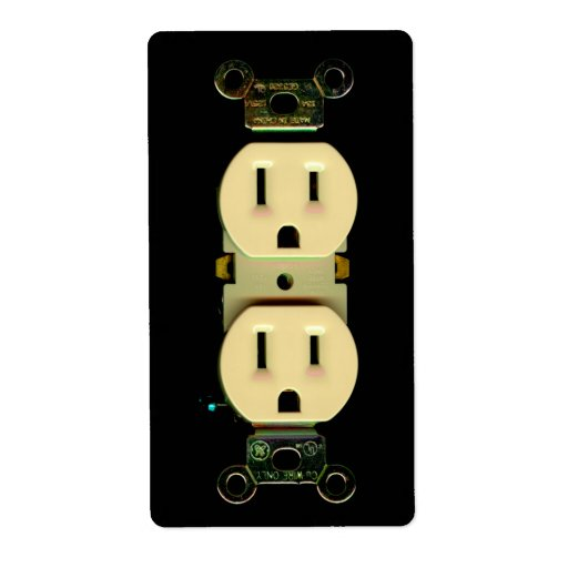 Electrical Contractor Outlet Electricians Business Label